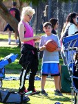 Gwen Stefani with son Kingston at Zuma's Soccer Practice in LA