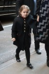 Harper Beckham arriving at Balthazar for lunch in New York City, New York