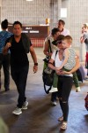 Hilary Duff and her ex-husband Mike Comrie are spotted at the airport in Maui with their son Luca Comrie on February 04, 2016