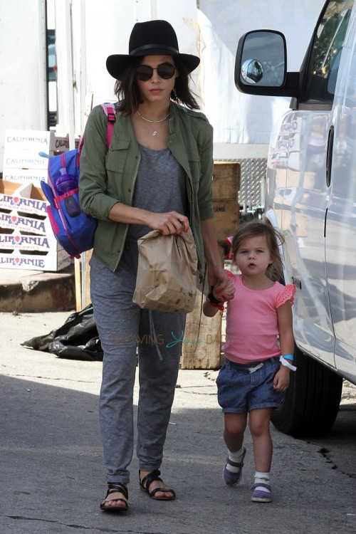 Jenna Dewan spends the day at the LA farmers market with her daughter Everly Tatum