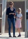 Jennifer Garner out in Santa Monica with daughter Violet Affleck