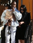 Kanye Carries His Sleeping Beauty After A Day Of Shopping