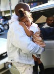 Kanye West Carries His Sleeping Beauty North After A Day Of Shopping