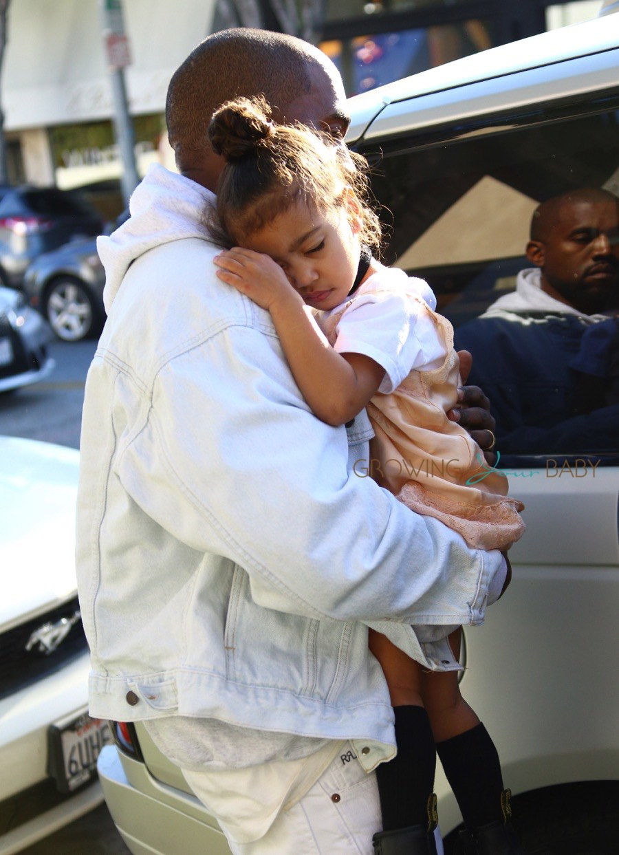 Kanye West Carries His Sleeping Beauty North After A Day ...
