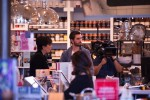 Kourtney Kardashian, Kris Jenner and Scott Disick hug at Williams Sonoma