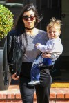 Kourtney Kardashian and Reign Disick leave a playdate
