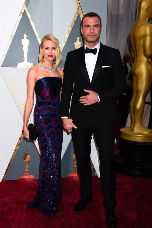 Liev Schreiber and Naomi Watts at the 88th Annual Academy Awards