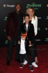 "Mark ""Rhino"" Smith  walks the red carpet at the Zootopia premiere with his family"