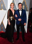 Mark Ruffalo and wife Sunrise Coigney  at the 88th Annual Academy Awards