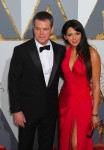 Matt and Luciana Damon at the 88th Annual Academy Awards