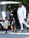 North West shops in Beverly Hills with her parents