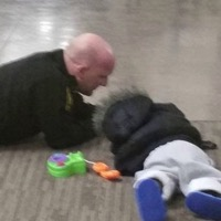 Ohio Officer Comforts Toddler Who Was Found Wandering The Streets