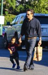 Olivier Martinez shops with his son Maceo at Bristol Farms