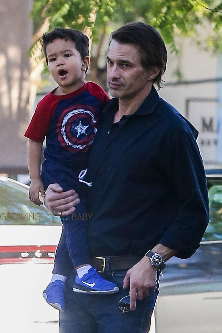 Olivier Martinez Takes His Son Maceo Shopping At Bristol