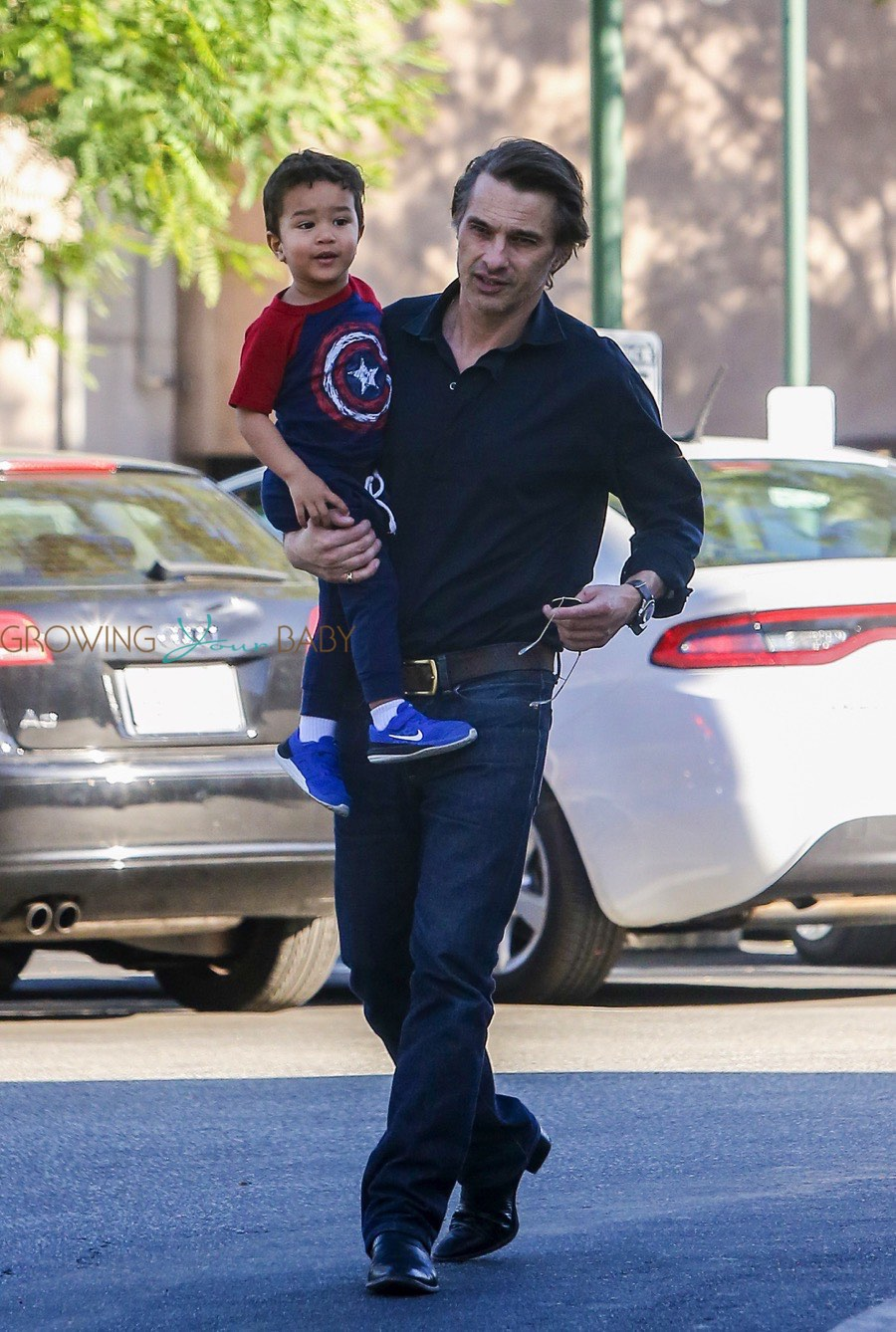 Olivier Martinez Does The Grocery Run With His Little Guy