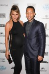 Pregnant Chrissy Teigen and husband John Legend Attends The Sports Illustrated Swimsuit Festival