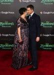 Pregnant Ginnifer Goodwin and Josh Dallas attend the premiere Of Walt Disney Animation Studios' 'Zootopia'