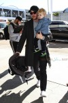 Pregnant Ginnifer Goodwin and Josh Dallas depart LAX with their Son Oliver
