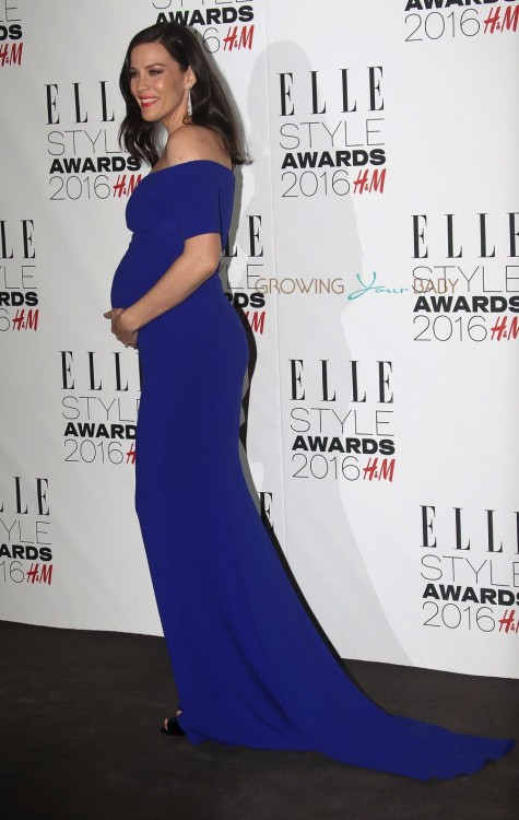 Pregnant Liv Tyler shows off her growing belly at the Elle Style Awards in LOndon