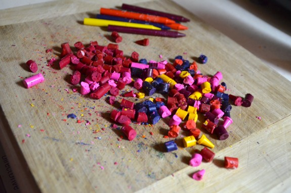 Recycled Crayon craft -