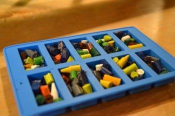 Recycled Crayon craft LEGO Bricks