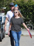 Reese Witherspoon & Jim Toth Leaving Samuel Affleck's Birthday Party with son Tennessee