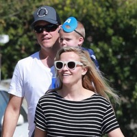 Reese Witherspoon & Her Family Leave Sam Affleck's Birthday Party