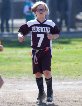 Zuma Rossdale at his soccer Practice