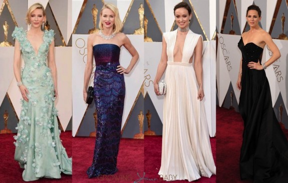 celebrity moms at the 88th Annual Academy Awards