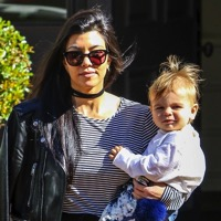 Kourtney Kardashian Leaves A Playdate With Her Little Man