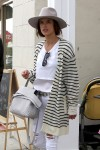 Alessandra Ambrosio out for lunch at Au Fudge