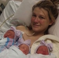Rare Identical Triplets Born to Oneonta Family