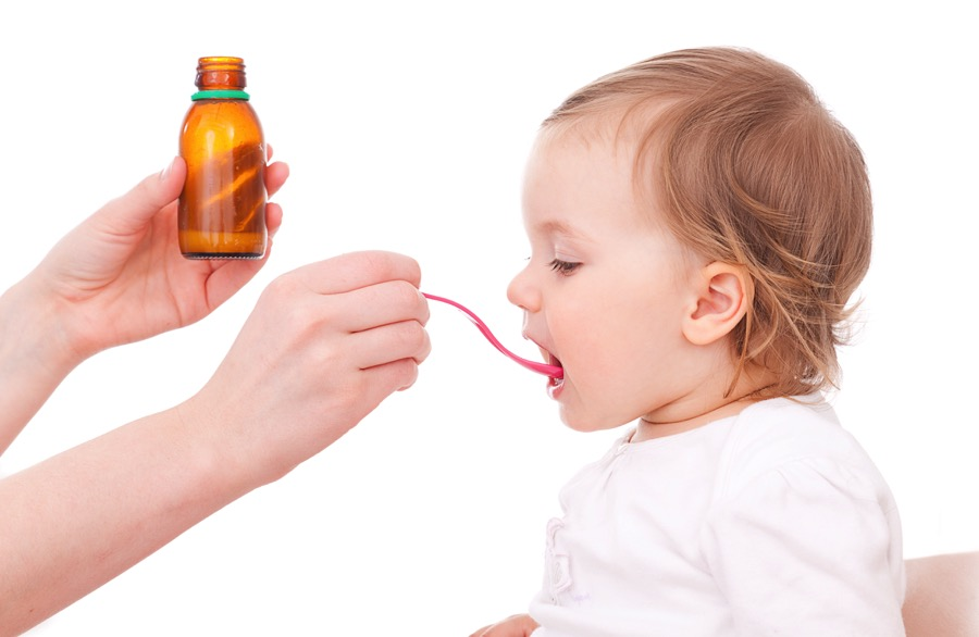 BABY GETTING COUGH MEDICINE