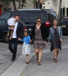 Ben Affleck and Jennifer Garner attend Easter Service with kids Sam and Seraphina