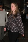 Chelsea Clinton arrives at LAX on a flight from New York