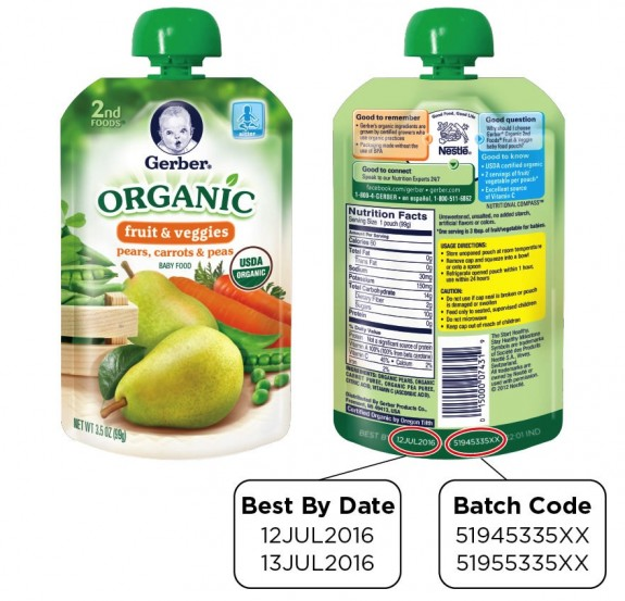 Gerber Issues Recall For Organic 2nd Foods Pouches 2016