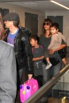 Halle Berry & Olivier Martinez with kids Nahla and Maceo at LAX