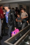 Halle Berry and Olivier Martinez with kids Nahla and Maceo at LAX
