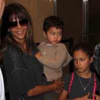 Halle Berry and Olivier Martinez Depart LAX With Their Kids