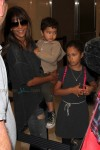 Halle Berry with kids Nahla and Maceo at LAX