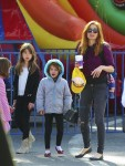 Isla Fisher Visits The Market With Olive, Elula and Montgomery Cohen