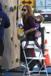 Isla Fisher at the market with son Montgomery