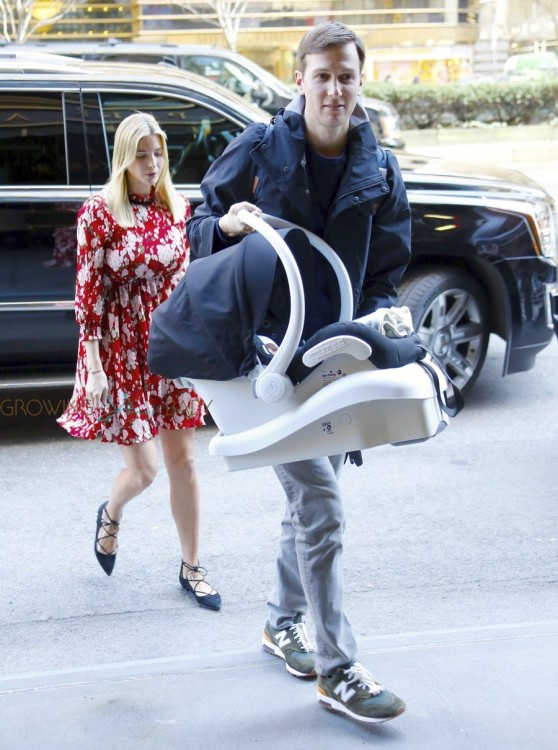 Ivanka Trump and Jared Kushner return home after welcoming son Theodore