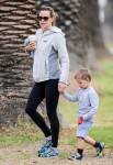 Jennifer Garner Goes For a Walk With Her Adorable Son Samuel Affleck