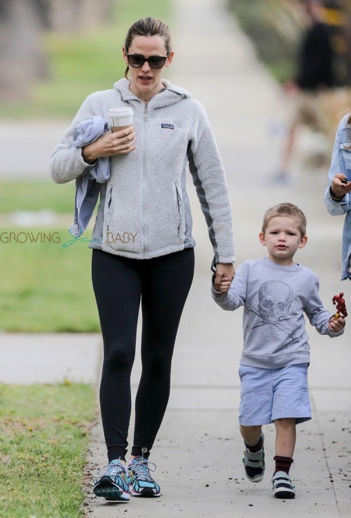 Jennifer Garner Goes For a Walk With Her Adorable Son Samuel Affleck in LA
