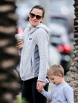 Jennifer Garner out with son Samuel in Brentwood