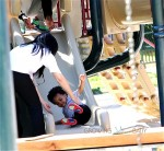 Kelly Rowland Takes Her son Titan Witherspoon to the Park