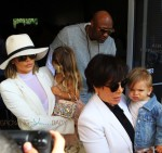 Khloe Kardashian and Lamar Odom attend Easter Sunday with  Penelope Disick, Kris Jenner and Reign Disick