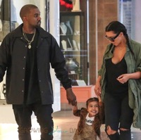 Kim & Kanye Take North To A Birthday Party