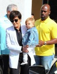 Kris Jenner Attends Easter Service with boyfriend Cory Gamble and grandson Reign Disick